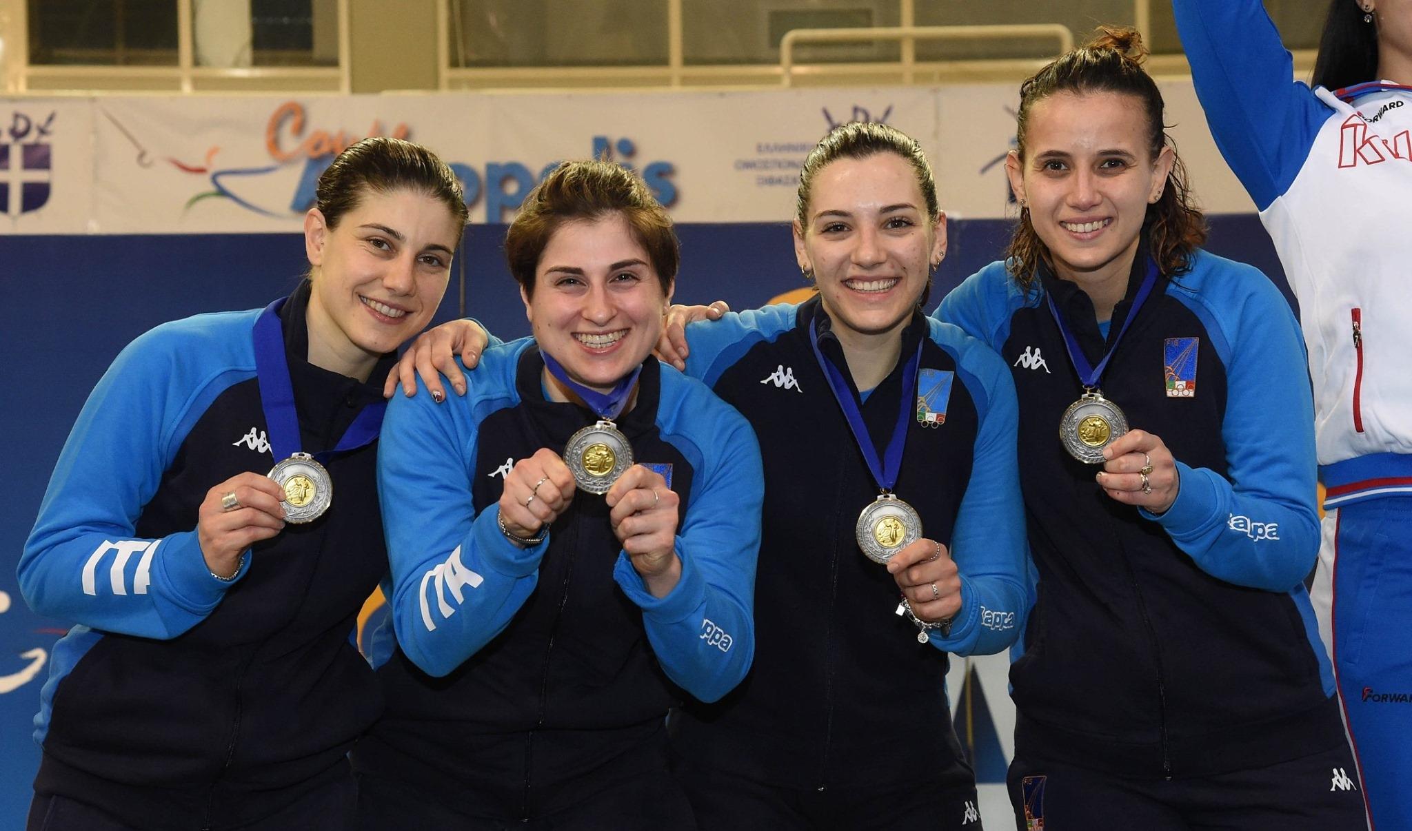 ITALIA Sciabola femminile ATENE2020_podio