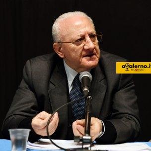 Salerno Sala Pasolini. Conferenza stampa nuovi finanziamenti regionali per la sanità