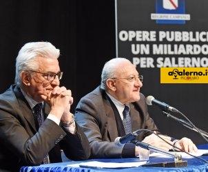 Salerno. Conferenza stampa Vincenzo De Luca