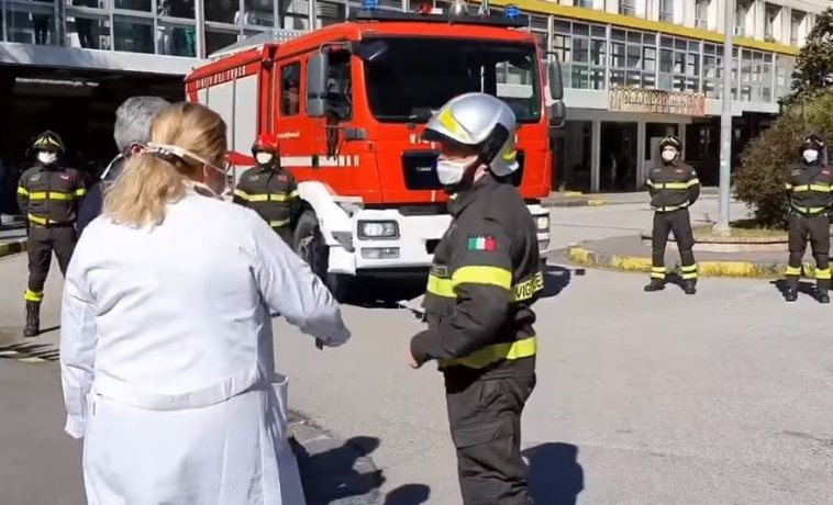 vigili del fuoco ruggi medici salerno