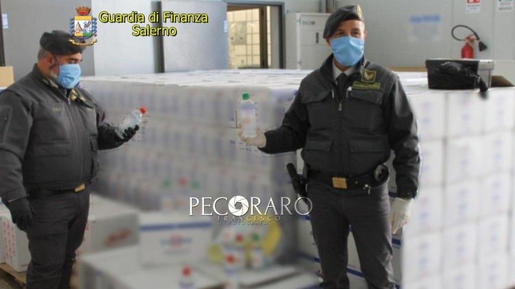Sequestrate oltre 10mila confezioni di gel igienizzante - aSalerno.it