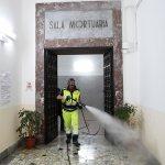 sal - 03 05 2020 salerno emergenza coronavirus sanificazione cimitero