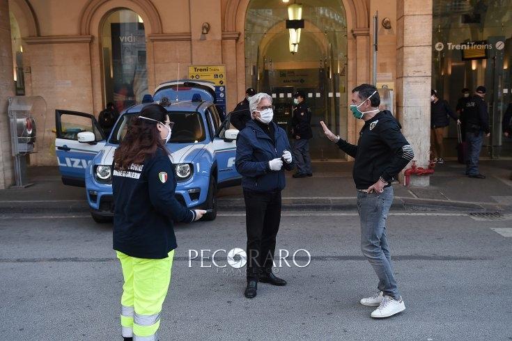 E' fase 2: ieri sanificata la stazione e il cimitero di Salerno – LE FOTO - aSalerno.it