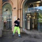 sal - 03 05 2020 salerno emergenza coronavirus sanificazione stazione centrale