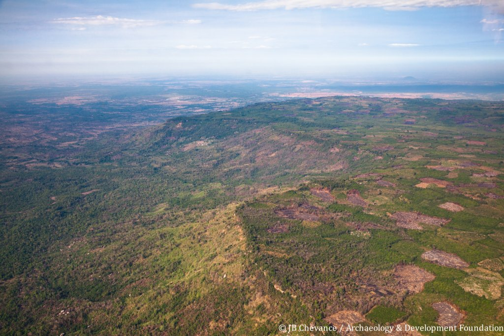 aerial picture of the Kulen plateau, credit JB Chevance_Archaeology and Development Foundation, ADF Kulen