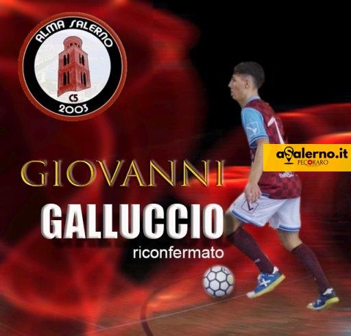 Alma Salerno, Giovanni Galluccio ancora granata: rinnovata la formula del prestito - aSalerno.it