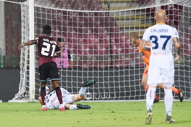 Salernitana in volo, vespe no: magia di Akpa Akpro (1-0 pt) - aSalerno.it
