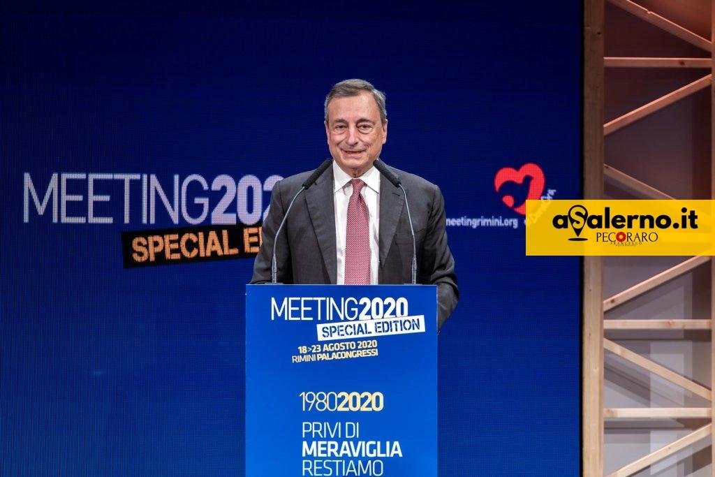 Mario Draghi al Meeting Rimini 2020 (Foto Meeting Rimini)
