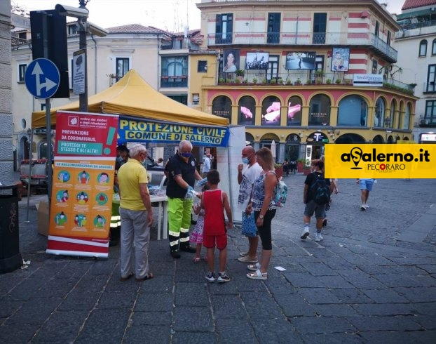 Salerno, distribuite nelle piazze 10mila mascherine - aSalerno.it