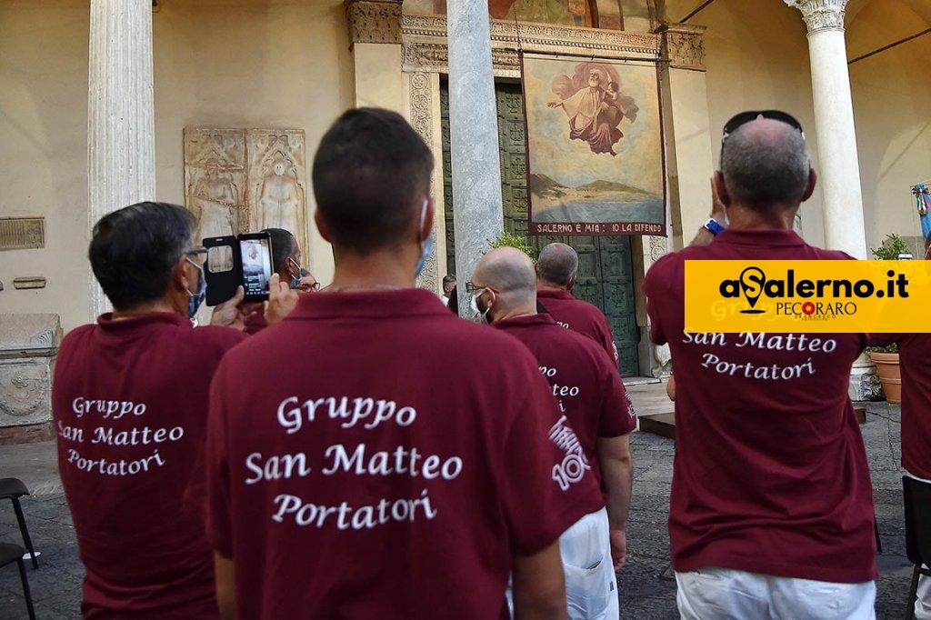 SAL - 21 08 2020 Salerno Duomo. Alzata del Panno di San Matteo. Foto Tanopress