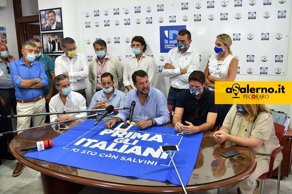 SAL - 26 08 2020 Salerno Pzza Malta. Matteo Salvini a Salerno. Foto Tanopress