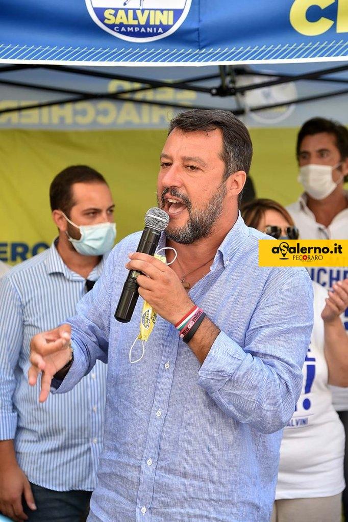 SAL - 26 08 2020 Salerno Via Velia. Matteo Salvini a Salerno. Foto Tanopress
