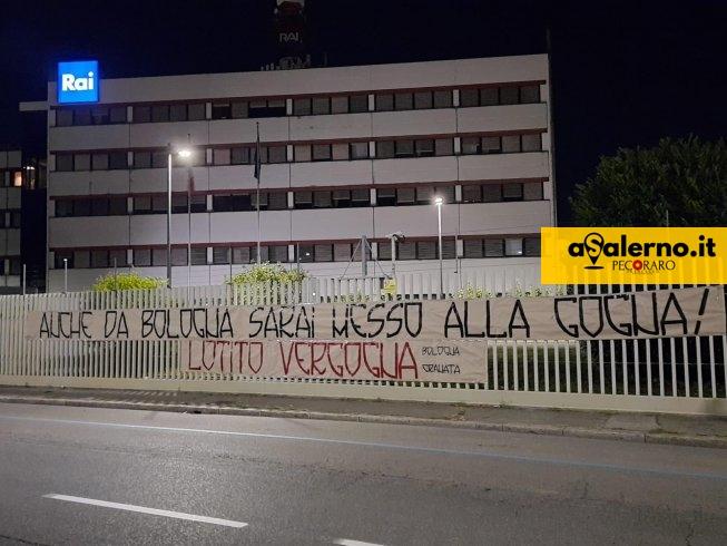 Tifoseria, unica direzione: striscione alla Rai di Bologna e uno a Salerno contro Lotito e Fabiani - aSalerno.it