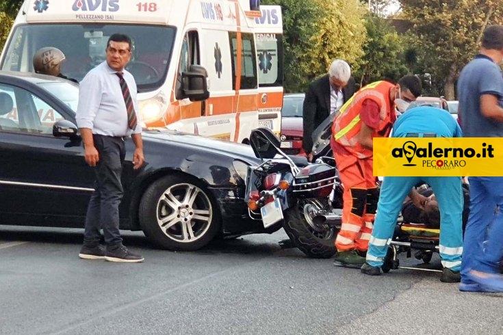 Incidente su via Allende, coppia sulla moto trasportata al Ruggi - aSalerno.it