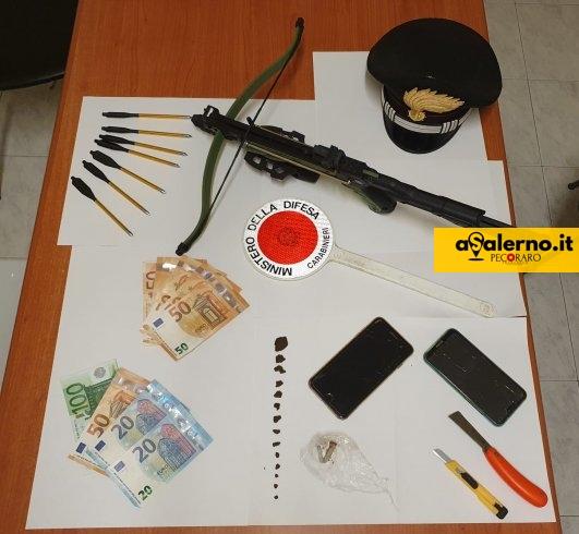 Hashish e una pistola balestra con 7 dardi, arrestato 27enne - aSalerno.it