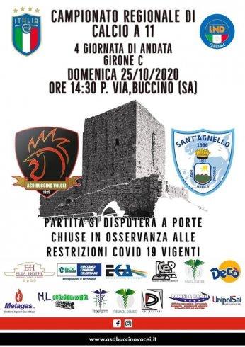 Eccellenza: gara prima del decreto, il Buccino vince 3-1 col Sant'Agnello - aSalerno.it