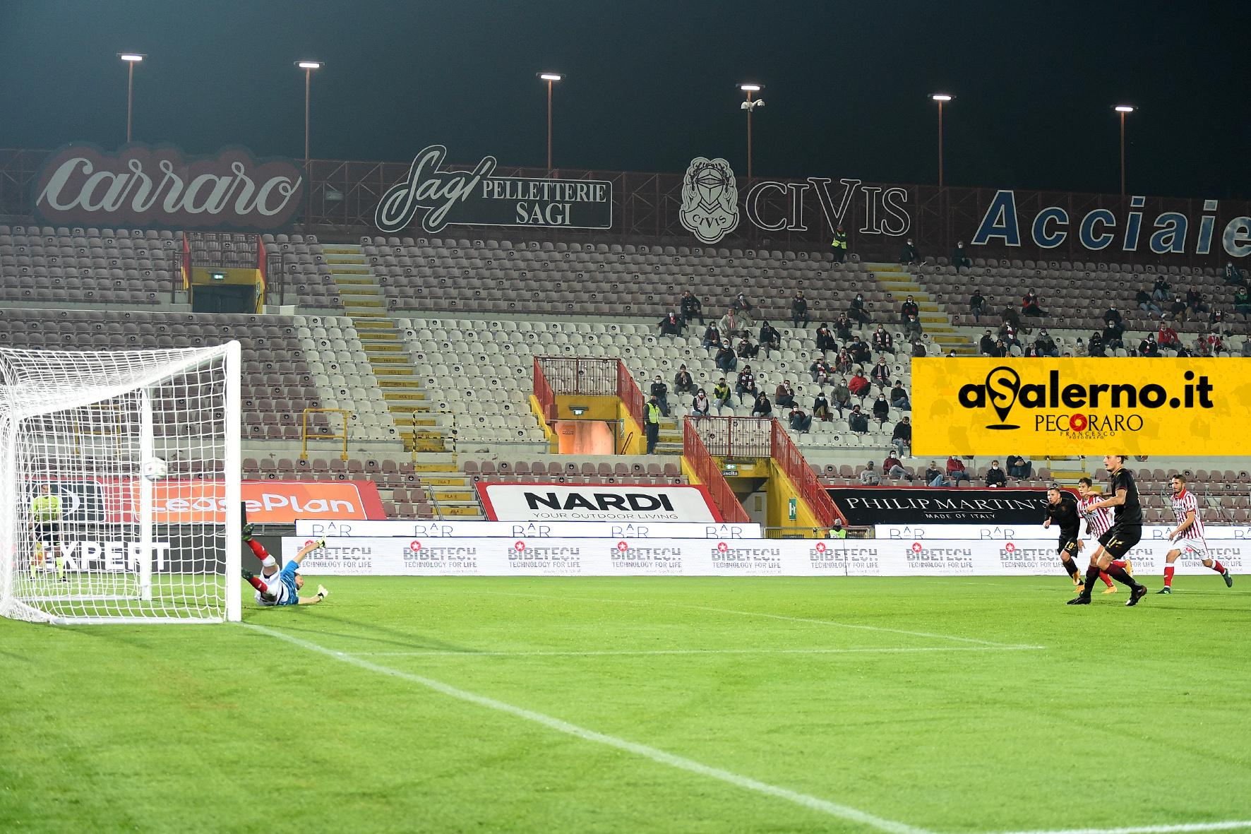 Salernitana di rigore, Vicenza di testa (1-1 pt)