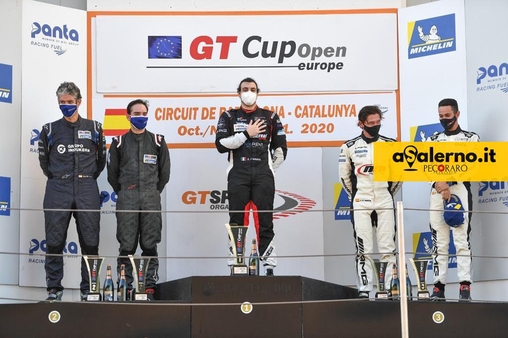 Aldo Festante sul podio a Barcellona