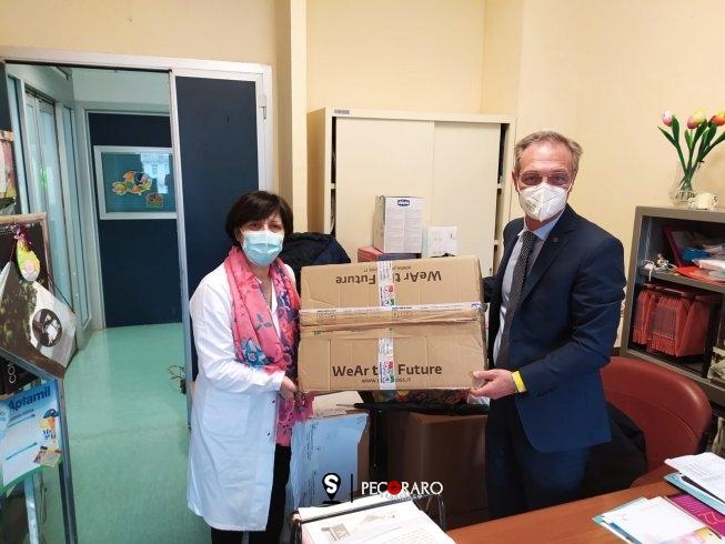 L'ANC Salerno dona dispositivi di protezione individuale al reparto di Neonatologia del Ruggi - aSalerno.it
