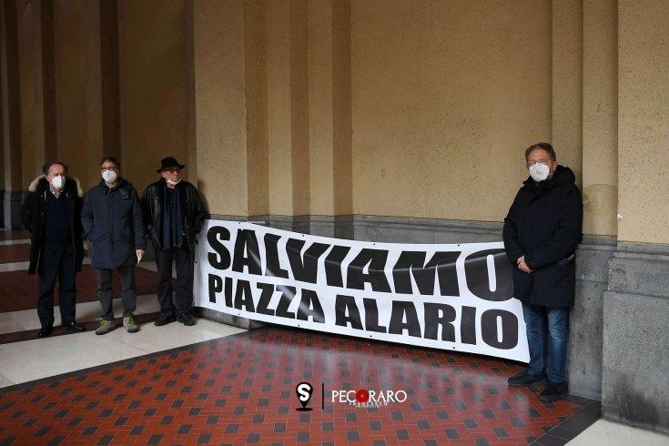 Piazza Alario, esposto il rendering: protesta sotto Palazzo di Città - aSalerno.it