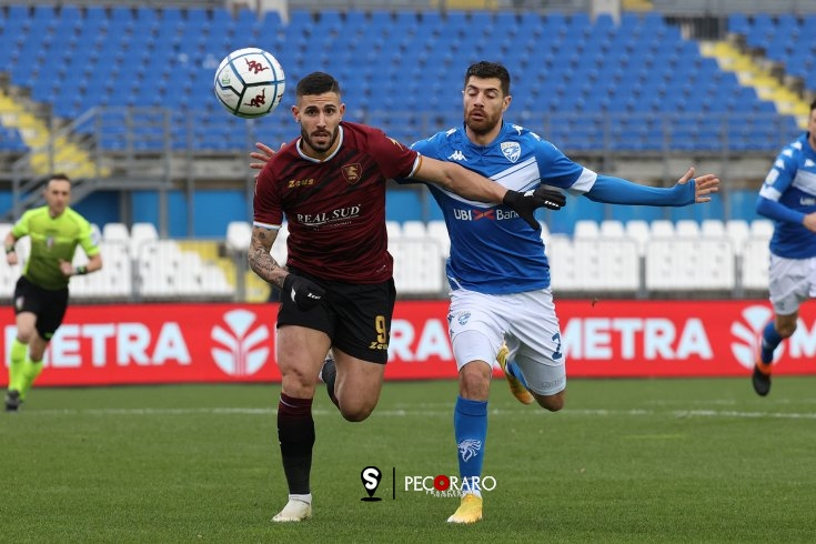Salernitana in affanno, tris del Brescia (3-1) - aSalerno.it