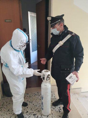 Bombola d'ossigeno per paziente Covid, l'intervento dei Carabinieri - aSalerno.it