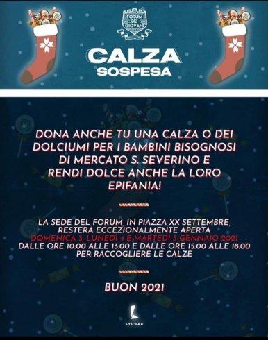 """Mercato San Severino, per la befana c'è la """"calza sospesa"""" - aSalerno.it"""