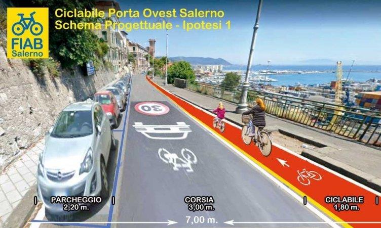 """""""Riapriamo Salerno alle biciclette"""" il progetto su via Croce - aSalerno.it"""