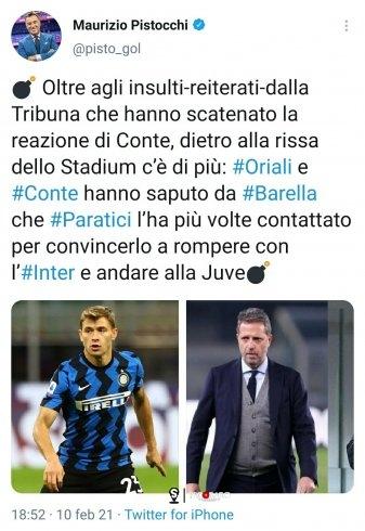 Chug | Pistocchi e il tweet su Barella che non ti aspetti - aSalerno.it