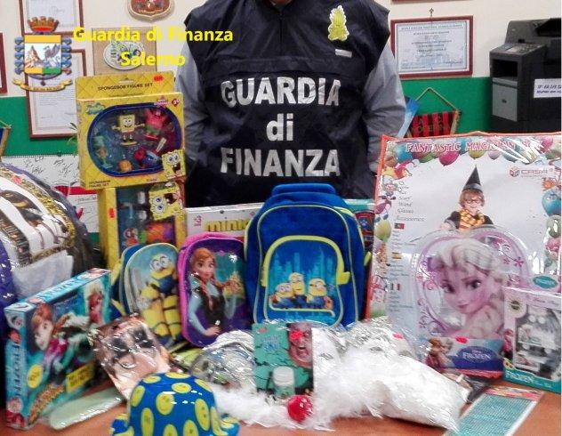 Maxi sequestro a Salerno e provincia: articoli e giochi senza marchio CE - aSalerno.it