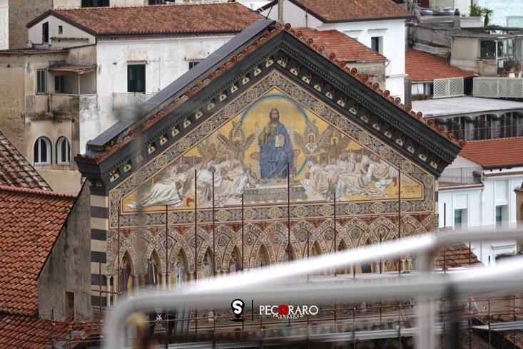 Completato il restauro della facciata del Duomo di Amalfi, com'era e com'è – LE FOTO - aSalerno.it