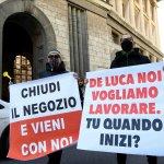 Covid ; protesta degli imprenditori e no dad
