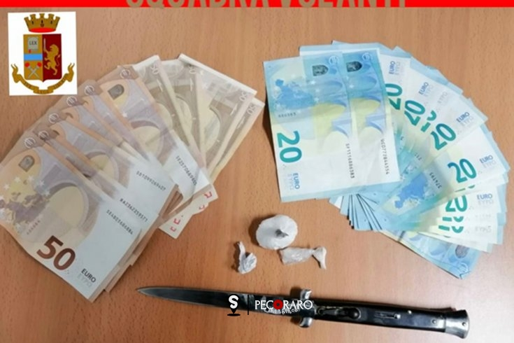 Cocaina, soldi ed un coltello di 27 cm, arrestati tre spacciatori salernitani a Pastena - aSalerno.it