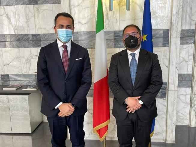 Il segretario del Psi Vincenzo Maraio incontra il ministro degli Esteri Luigi Di Maio - aSalerno.it