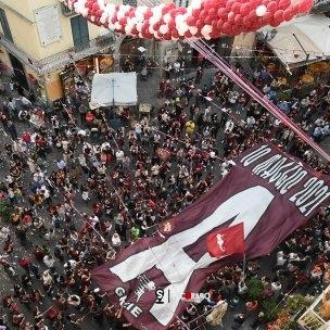 sal - 22 05 2021 salerno festa dei tifosi della salernitana a largo campo