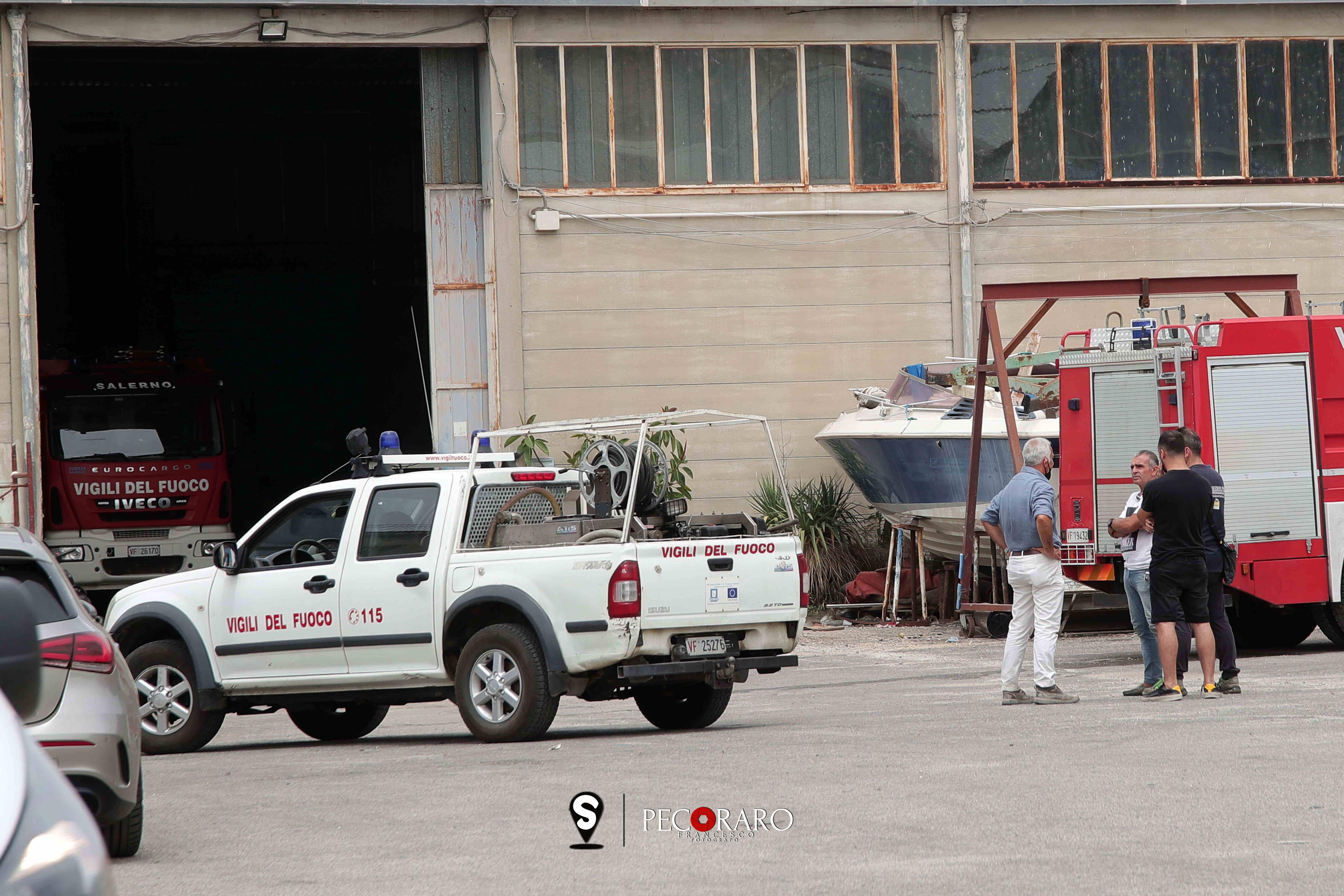 sal - 30 06 2021 incendio cantiere navale pontecagnano faiano