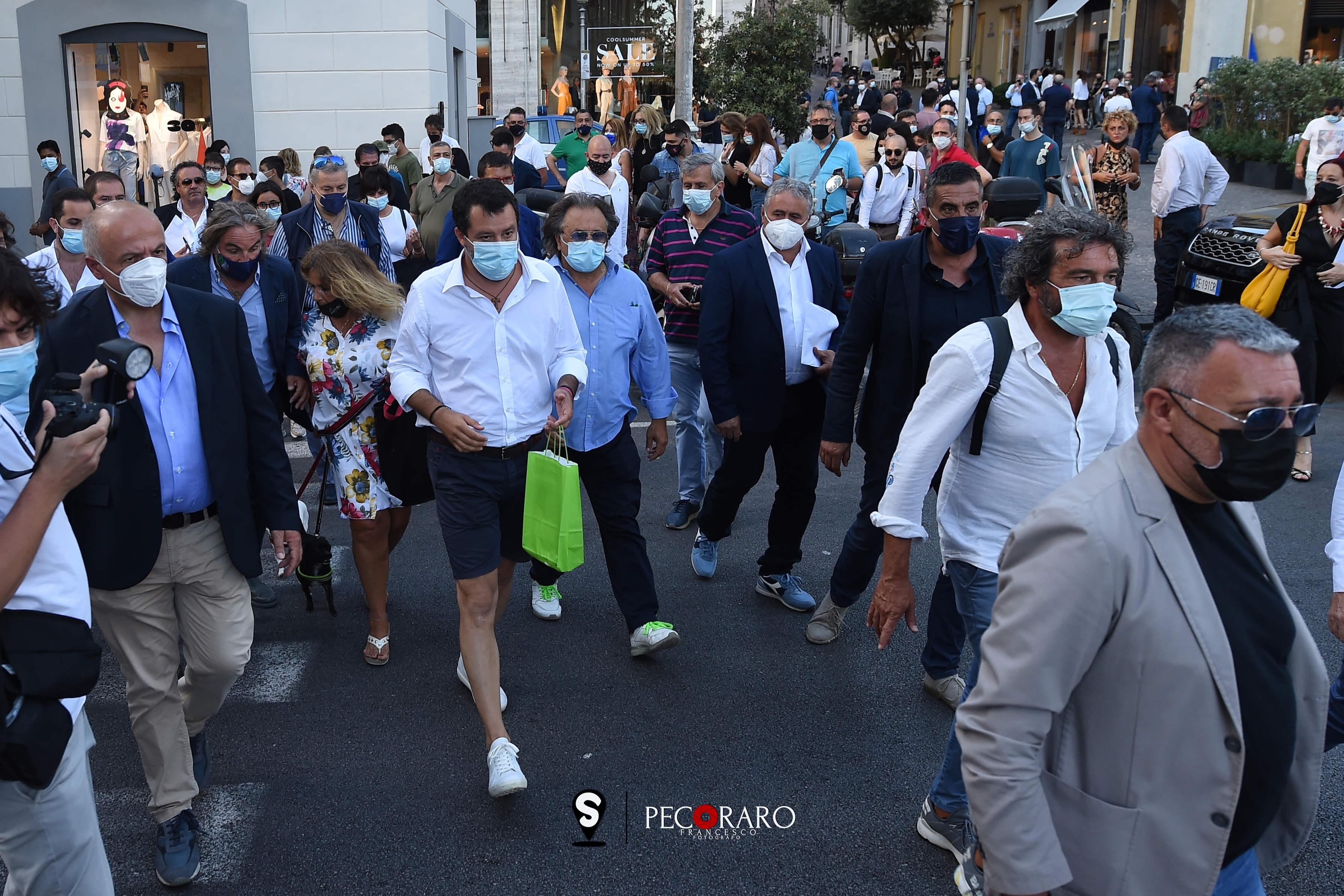 sal - 02 07 2021 Mateo Salvini a Salerno