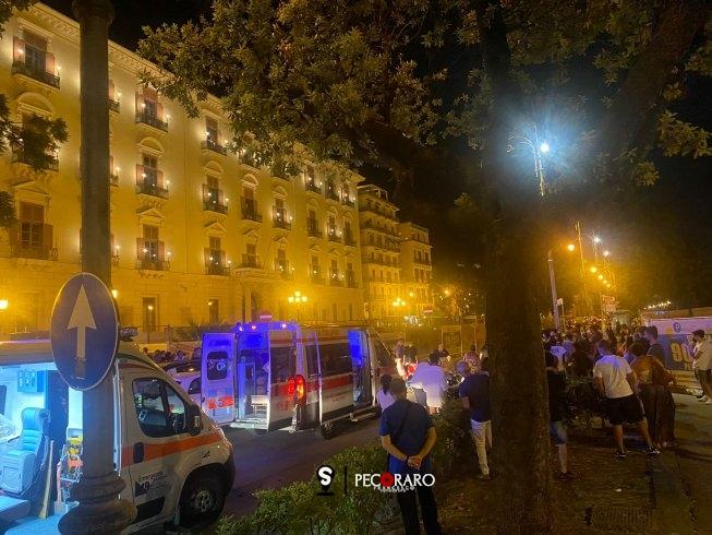 Incidente davanti Palazzo Sant'Agostino, tre feriti - aSalerno.it