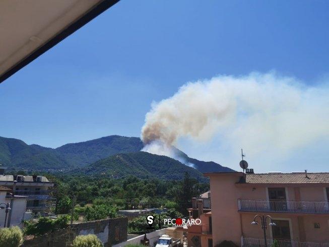 Fiamme ad Antessano, ennesimo rogo in provincia - aSalerno.it