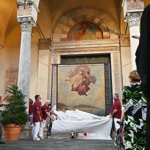 SAL - 21 08 2021 - Salerno. Alzata del panno di San Matteo. Tanopress