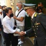 sal - 19 08 2021 Salerno. Giuseppe Conte in visita a Salerno