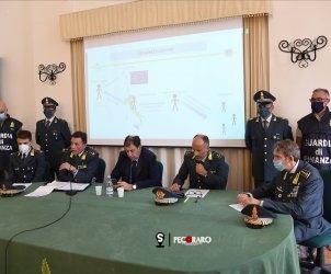 28 09 2021 Salerno. Conferenza arresti guardia di finanza