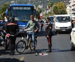 sal - 22 09 2021 Salerno. Controllo Carabinieri e motorizzazione per le bici elettriche